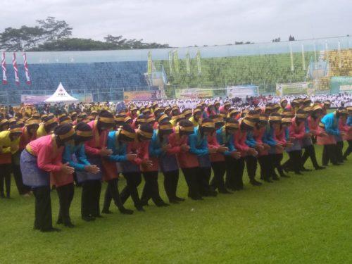 Upacara Peringatan HAB ke-73 Kabupaten Malang  Guru dan Siswa Berprestasi Terima Penghargaan