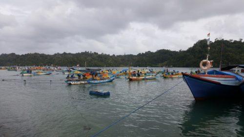 SANDAR : Parkiran Perahu Nelayan Pantai Sendang Biru. (dok)