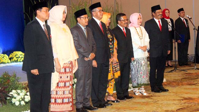 Jajaran pejabat BI dan Pimpinan Daerah Malang Raya. (rhd)