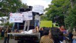 Ratusan Massa 3 Desa Demo di Komplek Pabrik Wonokoyo, Protes Pencemaran Limbah