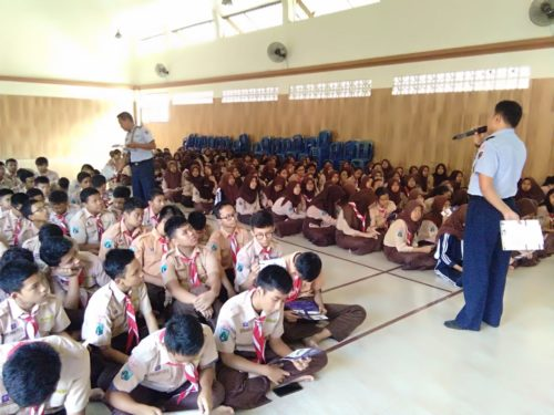 Lanud Abd Saleh Sosialisasi SMA Pradita Dirgantara di SMPN Kota Malang