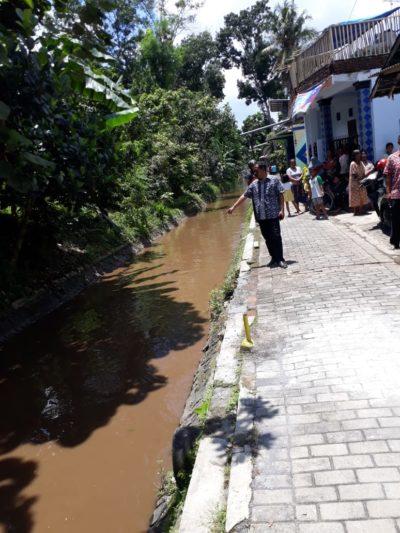 KRESEK NGAMBANG : Lokasi temuan di aliran sungai molek dekat kampung Sidomulyo. (foto Humas Polres Malang)