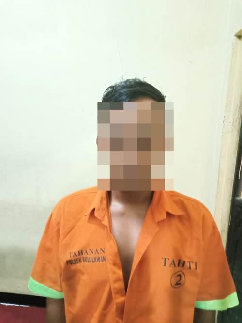 BUI : tersangka di Polsek Bululawang. (foto Humas Polres Malang)
