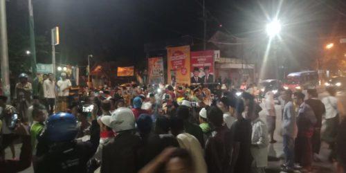 Kehadiran Prabowo kesampang disambut cekcok.