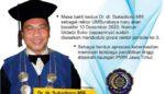Sukadiono Diusulkan Kali Ketiga Jabat Rektor UMSurabaya