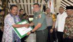 Dandim 0818 Secara Simbolis Ikut Serahkan Dana Desa dari Kementerian Desa PDTT