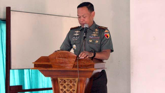 Dandim Lamongan Tegaskan Prajurit TNI Tak Terlibat Politik Praktis