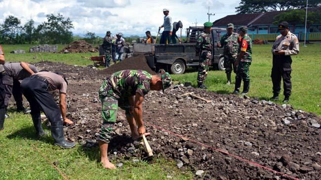 TMMD Ke-104 Bangun Jogging Track dan Jalan Penghubung Desa