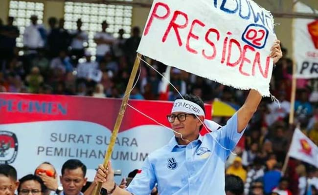 Cawapres Sandiaga Hadiri Kampanye Akbar di Lumajang