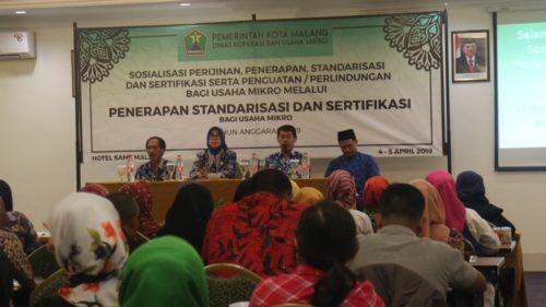 Dinkop UKM Berikan Standarisasi dan Sertifikasi Usaha Mikro Kota Malang