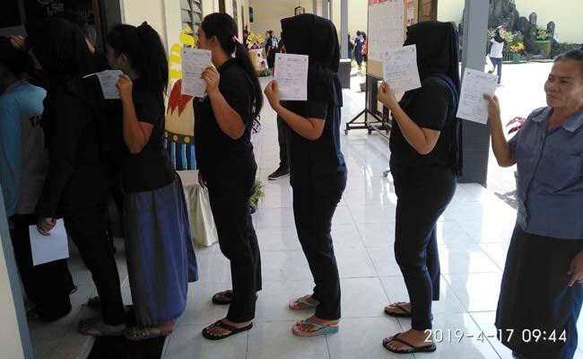 Napi LP Wanita Sukun Menangkan Capres 02
