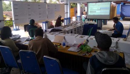Rekapitulasi Surat Suara Pemilu 2019 di Kecamatan Gedangan Kabupaten Malang Makan Waktu 30 Jam