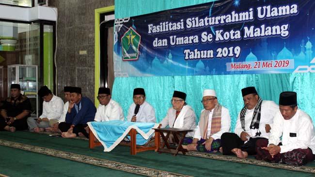 Walikota Malang Sutiaji memberikan tausiah. (rhd)