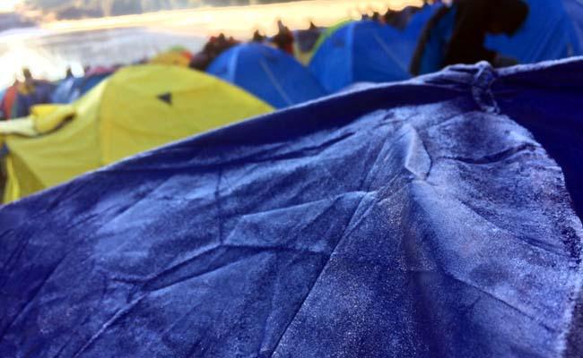Embun upas menempel di tenda para pendaki. (ist)