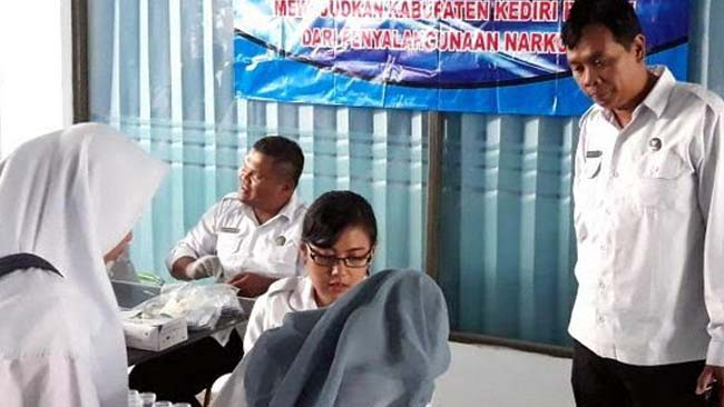 BNN Kab Kediri Sidak Kalangan Pelajar SMK