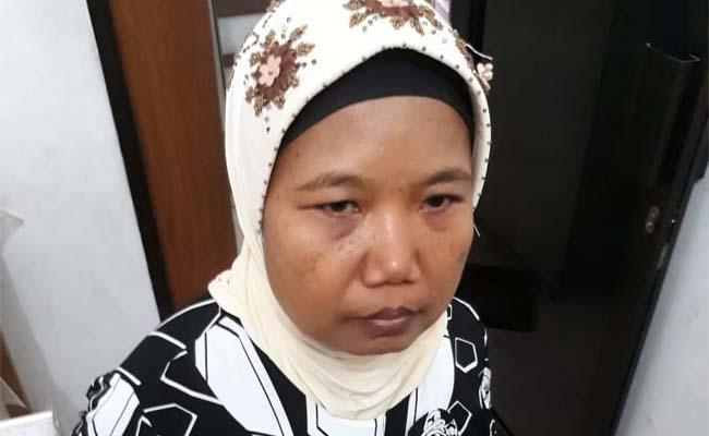 Korban Susiati yang sempat disekap pelaku. (gie)
