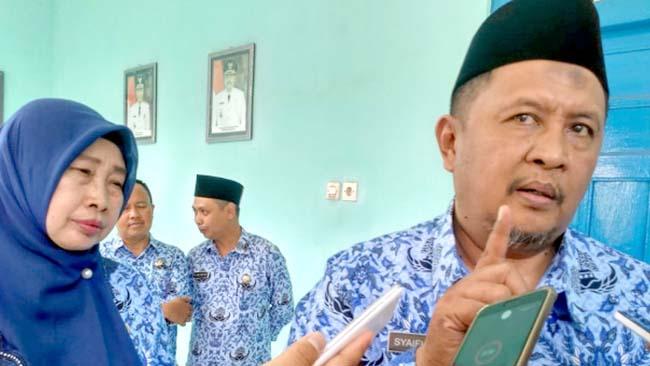 Sekda Bondowoso H.Syaifullah dengan Kepala Bapenda Endang Hardiyanti