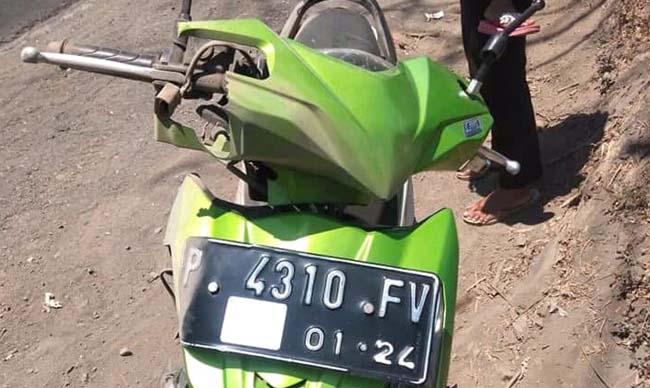 Sepeda motor korban. (ist/fb)