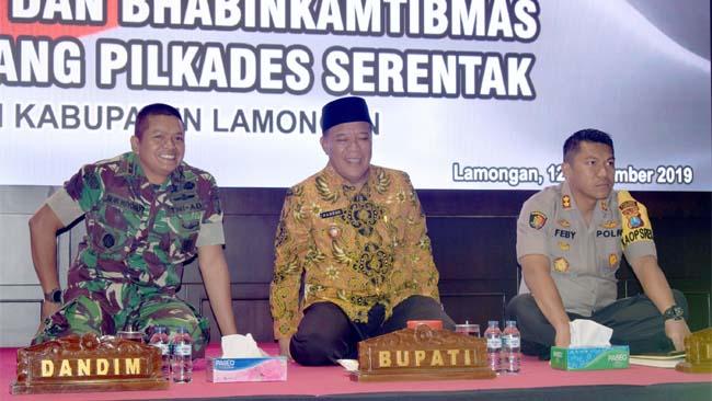 Jelang Pilkades Serentak, TNI Polri Lamongan Rapatkan Barisan