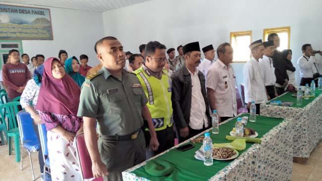 Komandan Koramil Sukapura, Kapten Jahuri Hadiri Pelantikan Sekdes Pakel