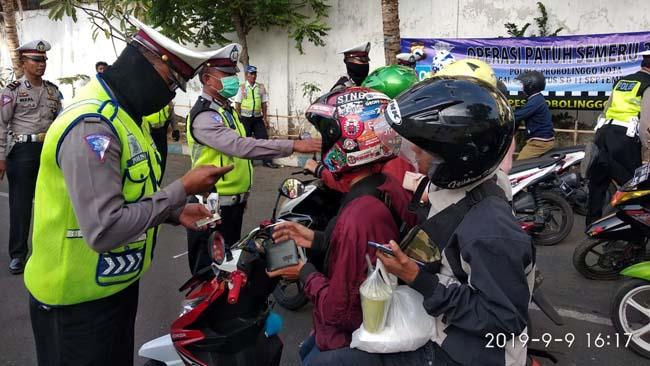 Operasi Semeru di Kota Probolinggo Tilang 1548 Pelanggar Lalu Lintas