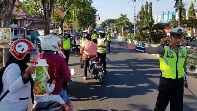 Sehari Operasi Patuh 2019, Polres Situbondo Tilang 385 Pelanggar