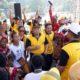 SENAM - Bupati Sidoarjo, Saiful Ilah dan Forkopimda senam bersama warga Papua saat penutupan Expo Kadin Sidoarjo, Minggu (29/9/2019)