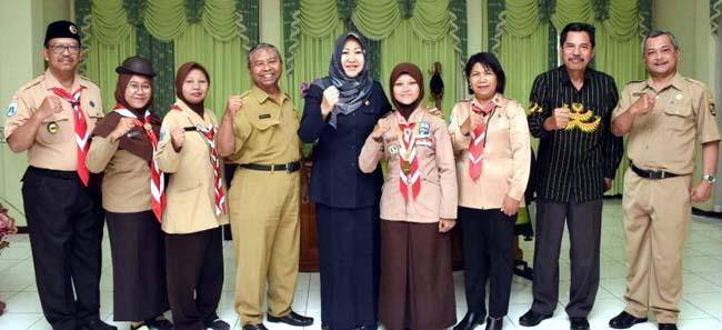 Siswa SMKN 2 Juara Festival Wirakarya Kampung Kelir Pramuka 2019