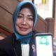 Nuruli Mahdilis, Ketua PN Malang menunjukkan aplikasi Arema. (gie)