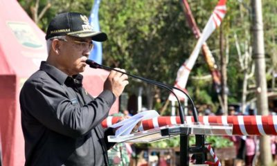 Bupati Malang Drs HM Sanusi Beri Sambutan. (sur)
