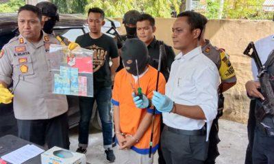 Pelaku pembobol ATM saat ditanya oleh Kapolres Probolinggo Kota (Pix)
