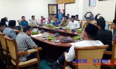 Suasana audensi di ruang rapat bersama di DPRD Kabupaten Sampang. (zyn)