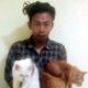 10 X : Tersangka Choirul dan kucing curian. (ist/Humas Polres Malang)
