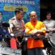 RANMOR : Tersangka Dwi Adi saat dirilis Kapolres Malang Kota AKBP Dony Alexander SIK MH. (gie)