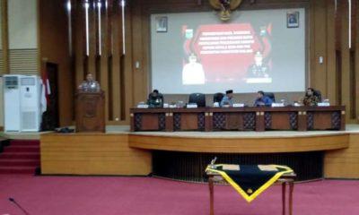 Bupati Malang Drs HM Sanusi MM Sampaikan Hasil Rakornas. (Sur)