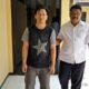 Fredy Permana Yuda saat di gelandang ke Polsek Porong (gus)