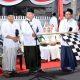Bupati H Dadang Wigiarto SH didampingi Wabup dan Ketua DPRD Situbondo saat melepas Peserta Kirab Ancak Agung 2019. (imam)