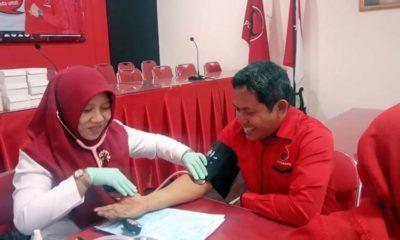 Peringati Hari Pahlawan dan Guru, DPC PDI Perjuangan Jember Gelar Donor Darah