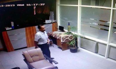 Satroni Gedung MIPA UB, Maling Laptop Terekam CCTV