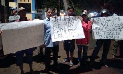Aksi demo pekerja Rusunawa. (Sur)