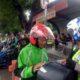 TILANG - Puluhan Ojek Online (Ojol) yang biasa mangkal di depan PT Gudanga Garam, Bungurasih, Kecamatan Waru, Sidoarjo ditilang petugas Unit Turjawali, Satuan Lantas, Polresta Sidoarjo, Sabtu (7/12/2019)