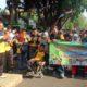 JALAN SEHAT - Bupati Sidoarjo, Saiful Ilah memberangkatkan 661 siswa disabilitas jalan sehat saat memperingati Hari Disabilitas Internasional di Dikbud Pemkab Sidoarjo, Rabu (18/12/2019)