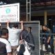 Papan bertuliskan Aset Pemerintah Kabupaten Sidoarjo, dicabut dan dirobohkan warga Desa Krembung (gus)