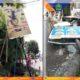 Trantib Kecamatan Blimbing Kota Malang Preteli Peraga Reklame Rawan Roboh