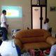 Paparan BMKG Karangkates Malang terkait potensi tsunami dan gempa bumi di Kantor BPBD Kabupaten Malang. (Sur)