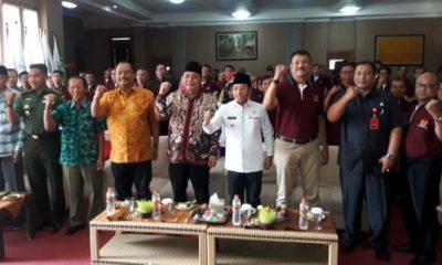 Rapat Tahunan KONI Kota Malang yang juga dihadiri Walikota Malang Drs H Sutiaji dan Ketua DPRD Kota Malang I Made Rian. (gie)