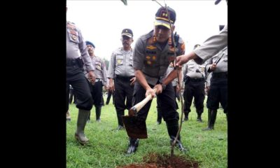 Polri Peduli Penghijauan, Polres Bangkalan Taman 5000 Pohon