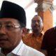 Walikota Malang Drs Sutiaji bersama Ketua Umum KONI Kota Malang Eddy Wahyono. (gie)
