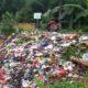 Tumpukan sampah di samping Sungai Kalitakir Dusun Sepanjang Kulon, Desa Sepanjang, Kecamatan Glenmore. (git)