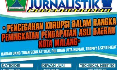 Bapenda Kota Malang Adakan Lomba Karya Jurnalistik